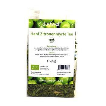 GloboVita GmbH DUOWELL Hanf Zitronenmyrte Tee Bio 40 g 035
